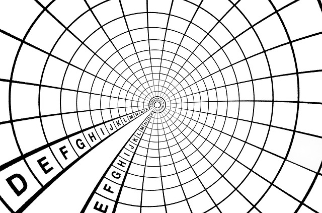 mřížka šablona