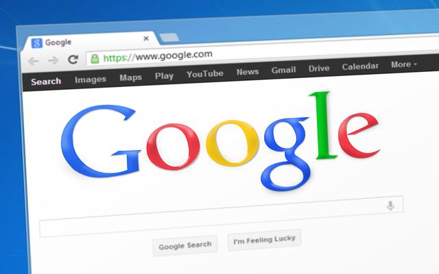 stránka vyhledávače Google